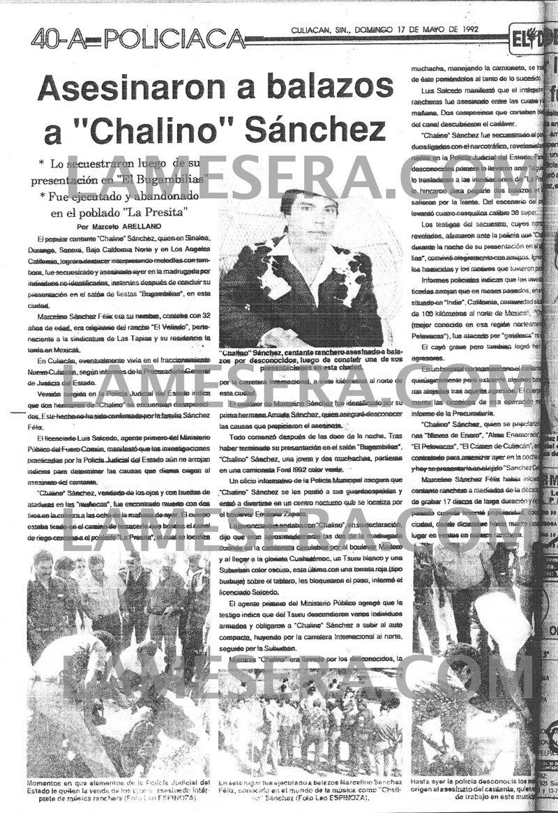 El Debate 1992 - Chalino Sanchez
