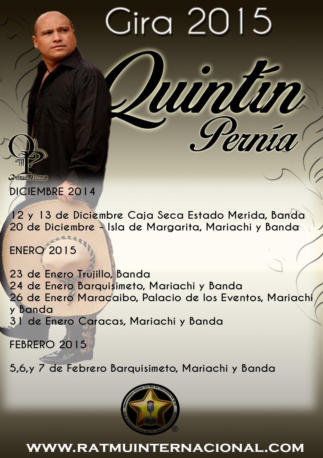 Gira 2014 Quintín Pernía