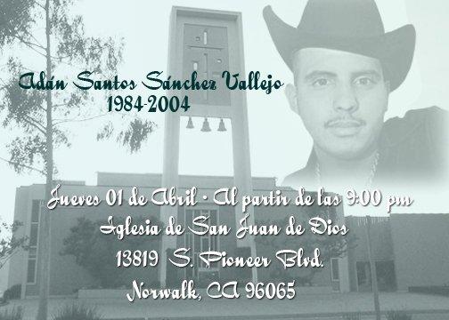 Muerte De Adan Sanchez