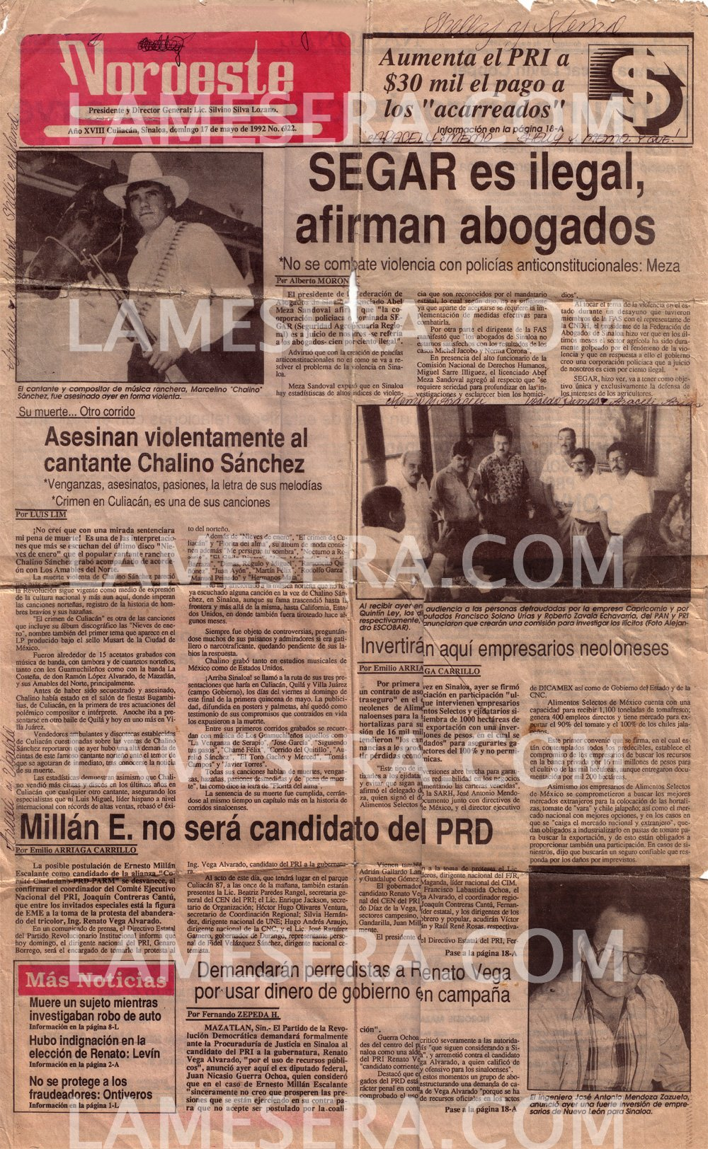 Asesinan A Chalino Sanchez