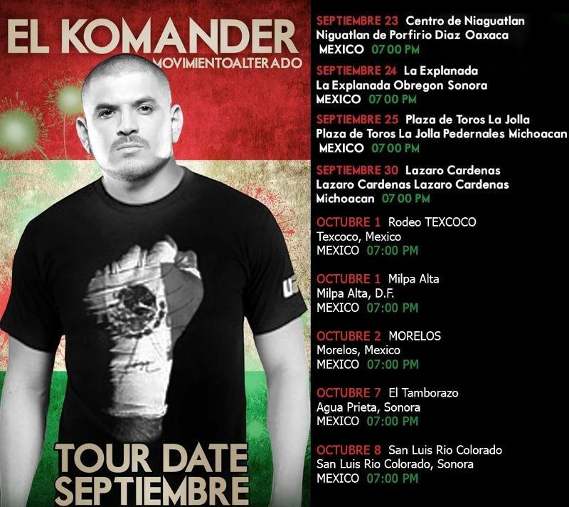 Foto de EL KOMANDER FECHAS - Fotos en LaMesera.com - Sirviendo ...